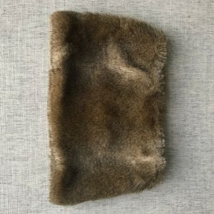 Club Monaco faux fur snood scarf